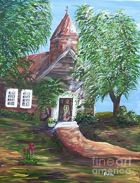 Church Painting - Country Church by Eloise Schneider Mote