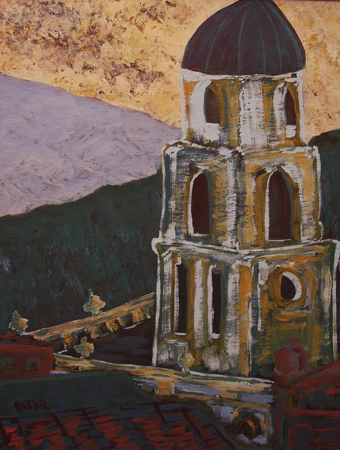 Cityscapes Painting - Country Church II by Oscar Penalber