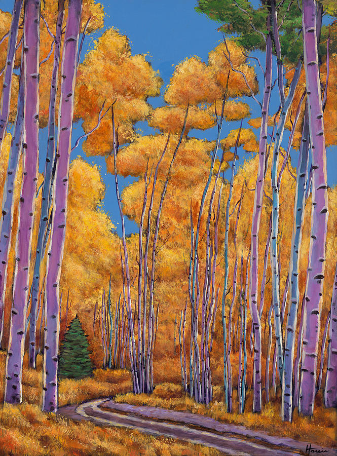 Autumn Aspen Painting - Country Corner by Johnathan Harris