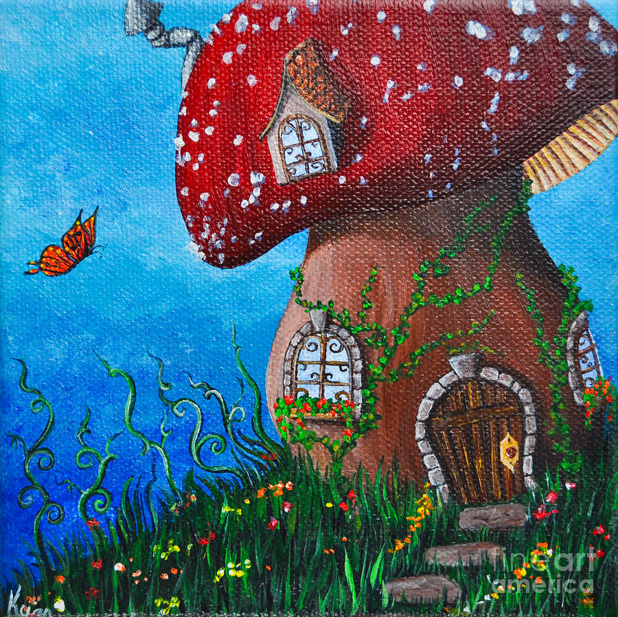 Fairytale Painting - Country Cottage by Kyra Wilson
