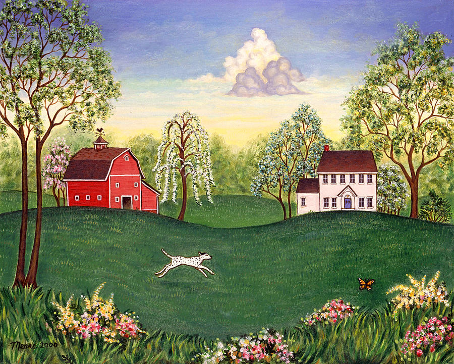 Landscapes Painting - Country Frolic One by Linda Mears