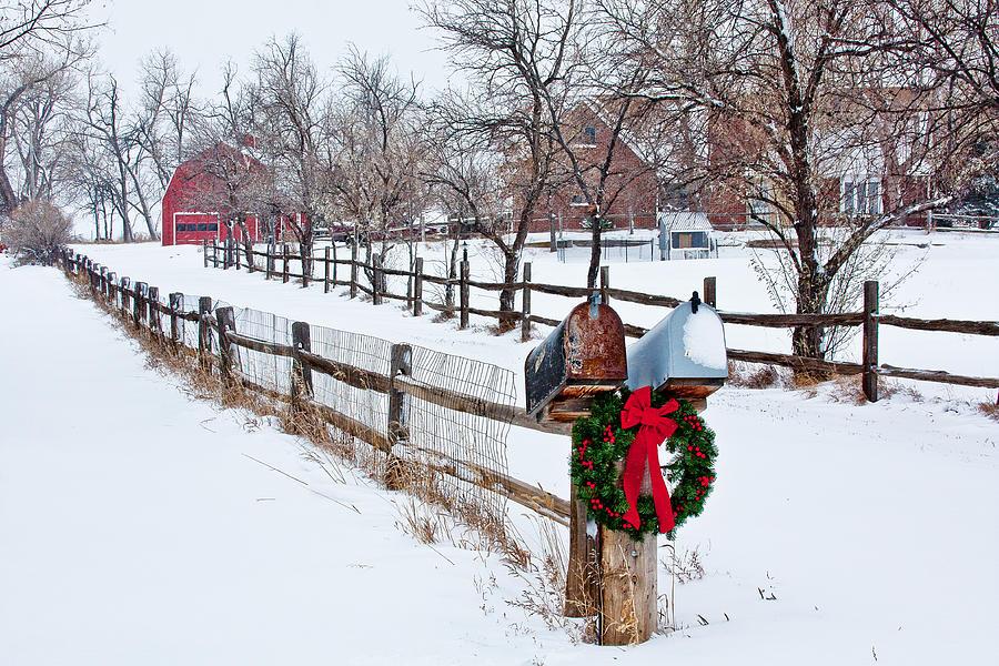 Christmas Photograph - Country Holiday Cheer by Teri Virbickis
