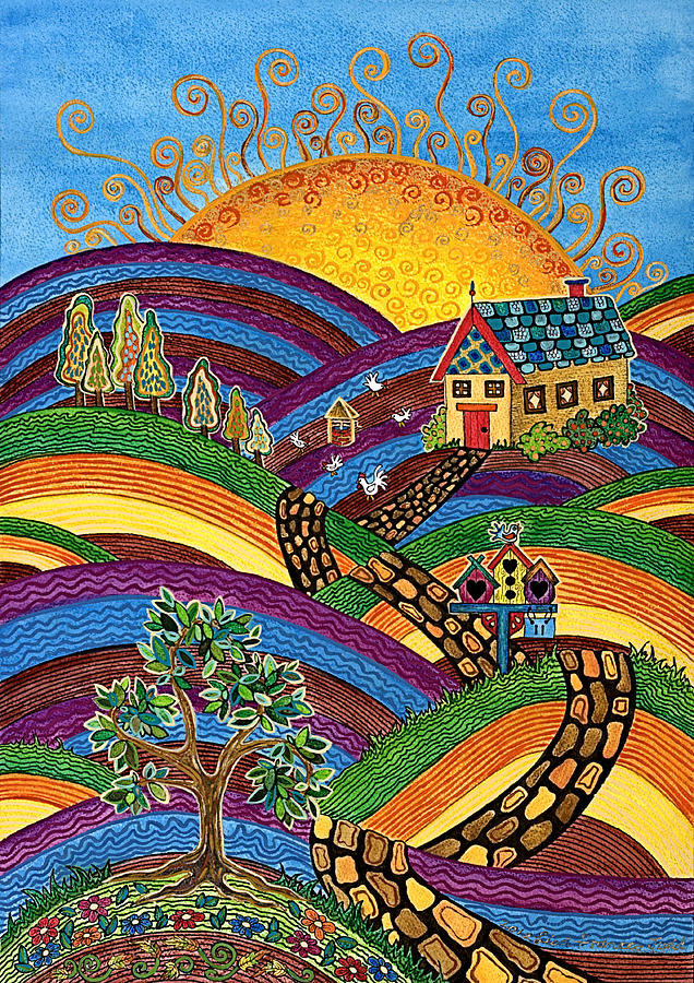 Home Painting - Country Home by Lisa Frances Judd