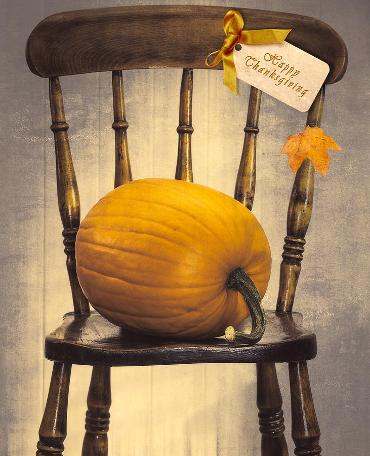 Pumpkins Photograph - Country House Chair by Amanda Elwell