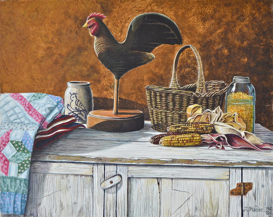 Country kitchen painting by dave hasler for Kitchen paintings pictures