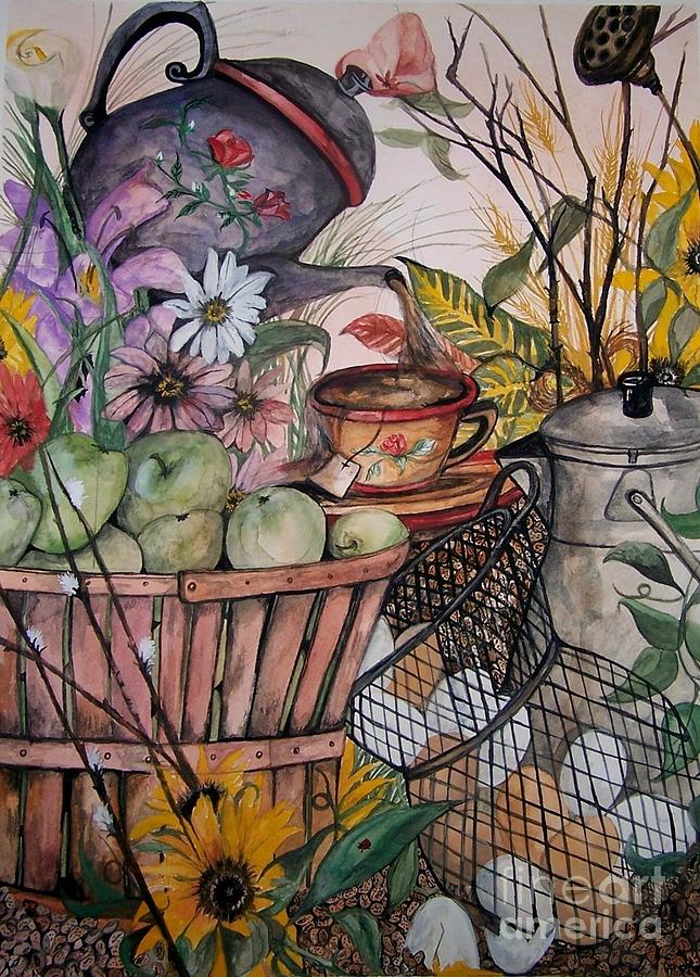 Still Life Painting - Country Kitchen by Laneea Tolley