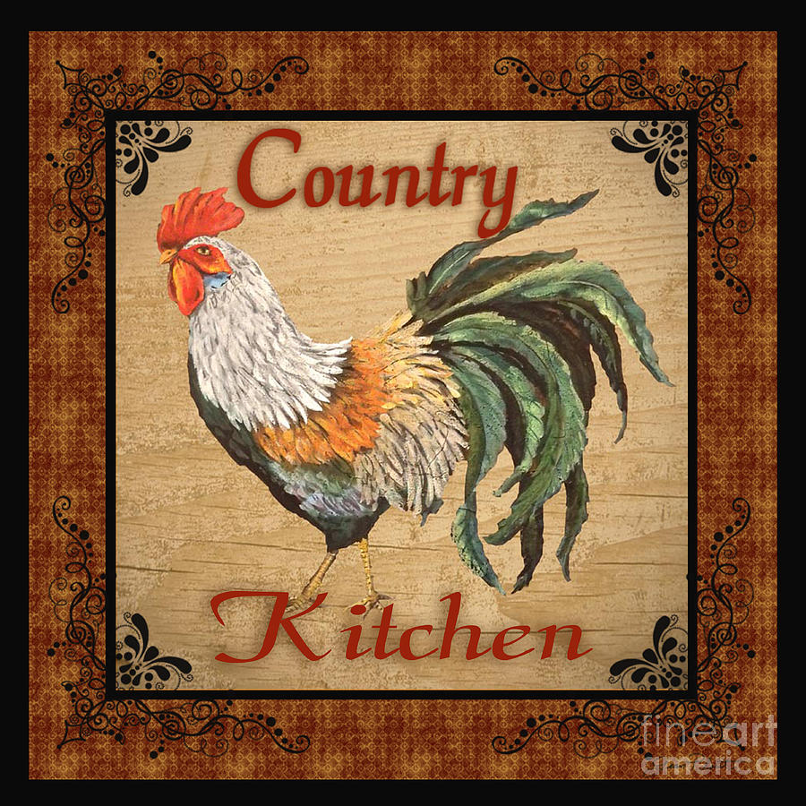 Country Kitchen Rooster