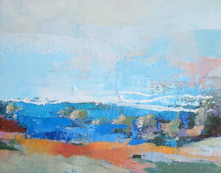 Horizon Painting - Country Landscape  by Aiello Sergio