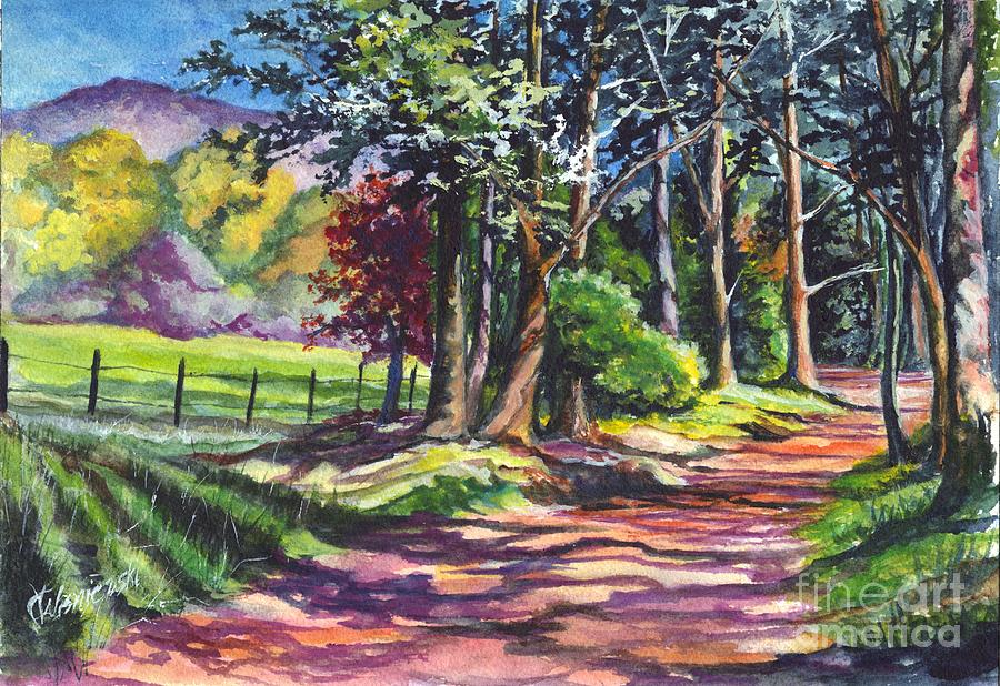 Autumn Painting - Country Lane by Carol Wisniewski