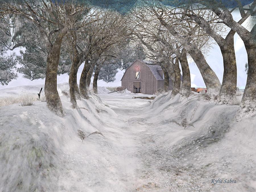 winter city lane with - photo #13