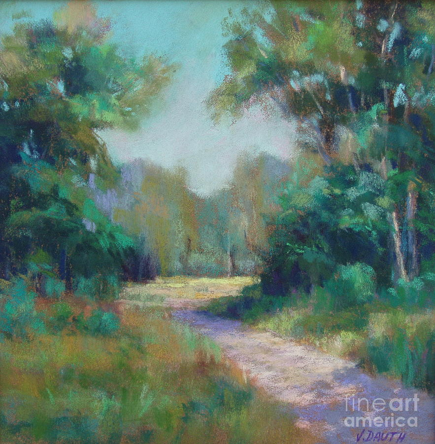 Landscape Painting - Country Lane by Virginia Dauth