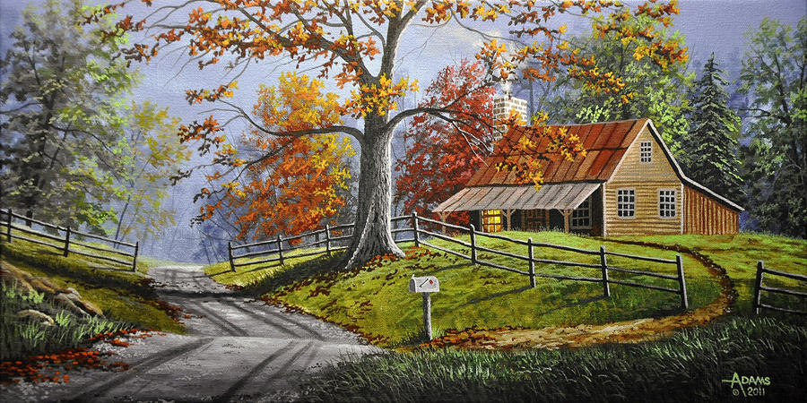 Country Life Large Painting by Gary Adams