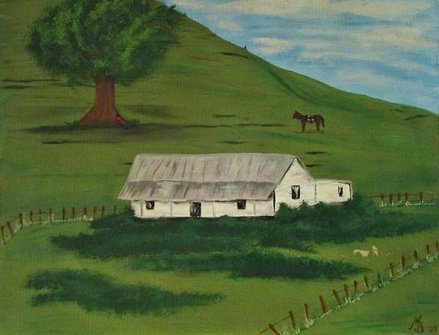 Farm Painting - Country Life by Melanie Blankenship