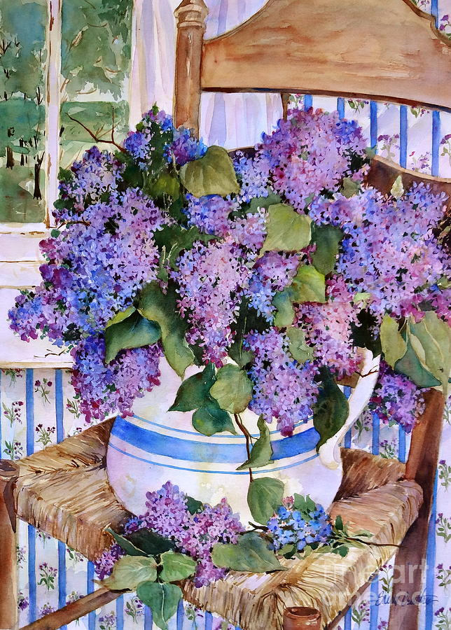 Lilacs Painting - Country Lilacs by Sherri Crabtree
