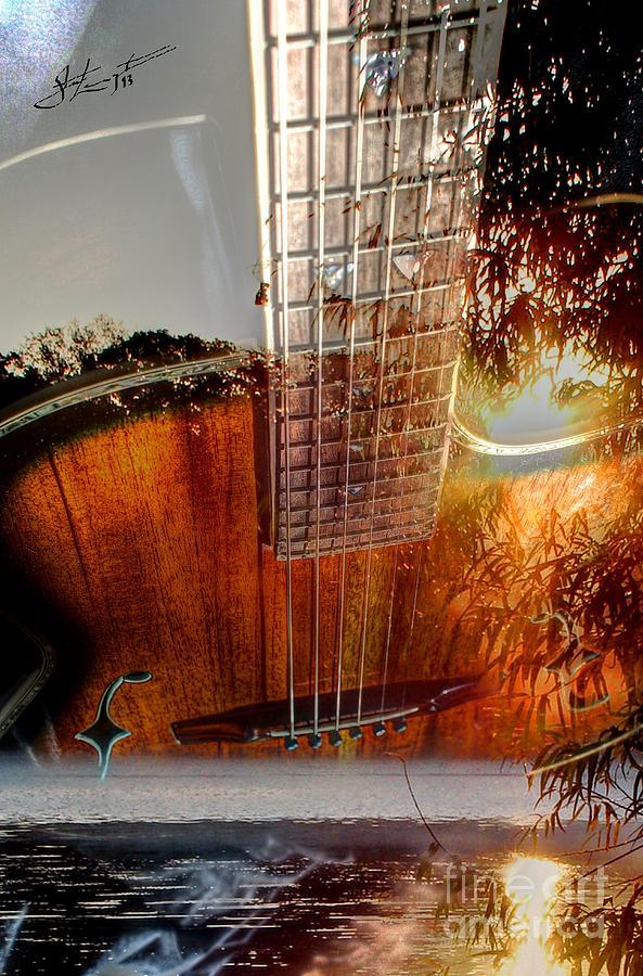 Acoustic Photograph - Country Music Digital Guitar Art By Steven Langston by Steven Lebron Langston