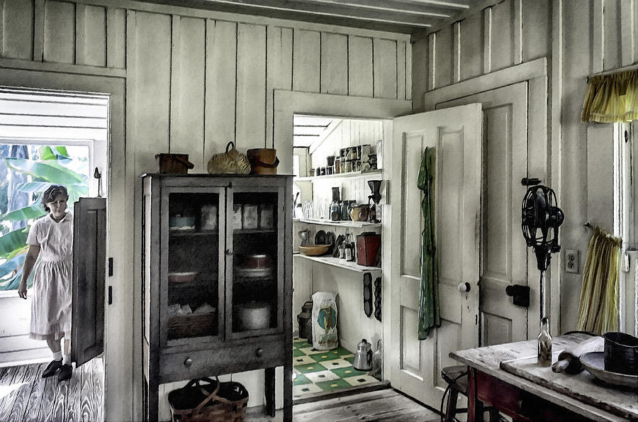 Wooden Table Photograph - Country Pantry by Lynn Palmer