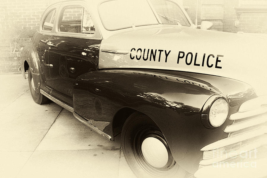 Country Police Photograph - Country Police Antique Toned by John Rizzuto