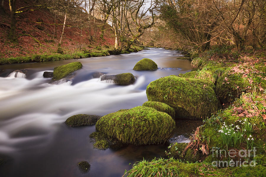 Britain Photograph - Country River Scene Wales by Pearl Bucknall