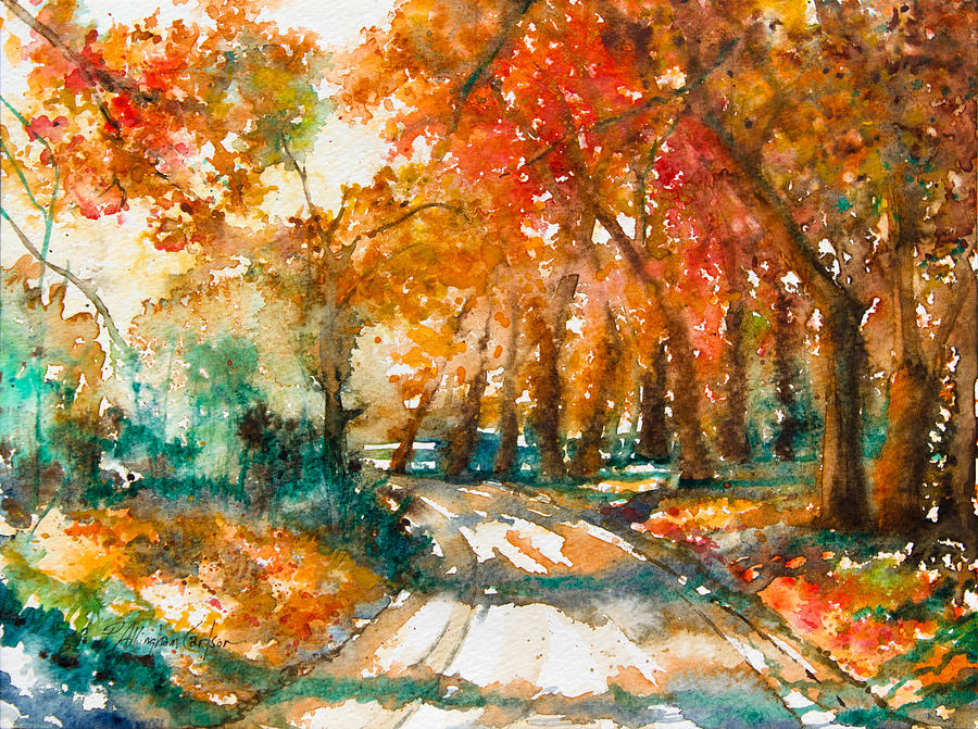 Country road bucks county pa painting by patricia for Craft shows in bucks county pa