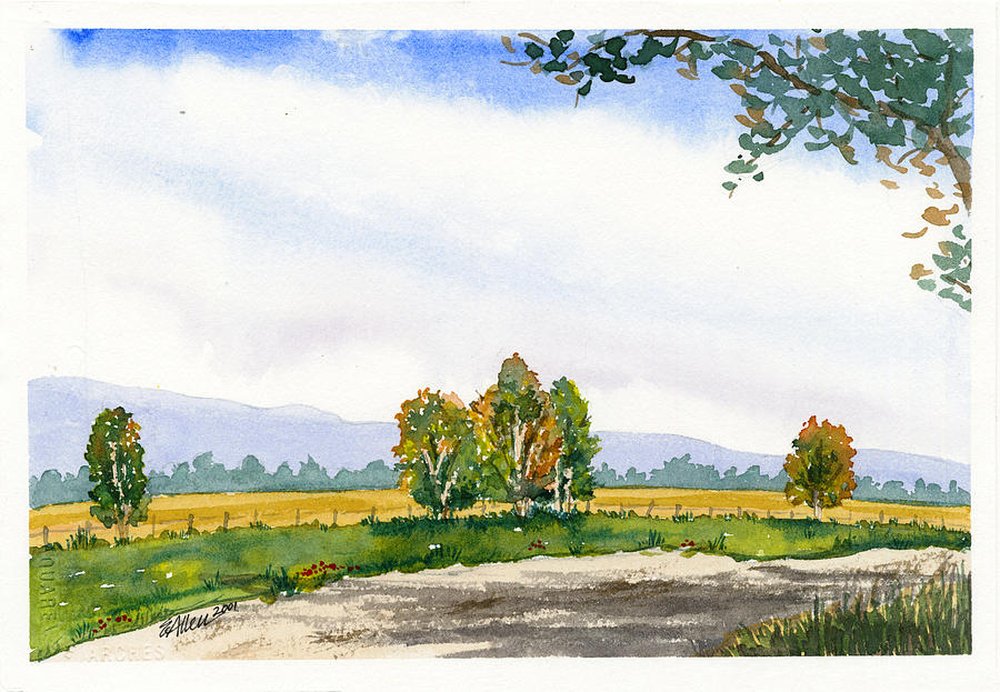 Landscape Painting - Country Road by Elaine Allen