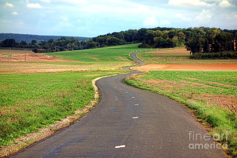 France Photograph - Country Road In France by Olivier Le Queinec