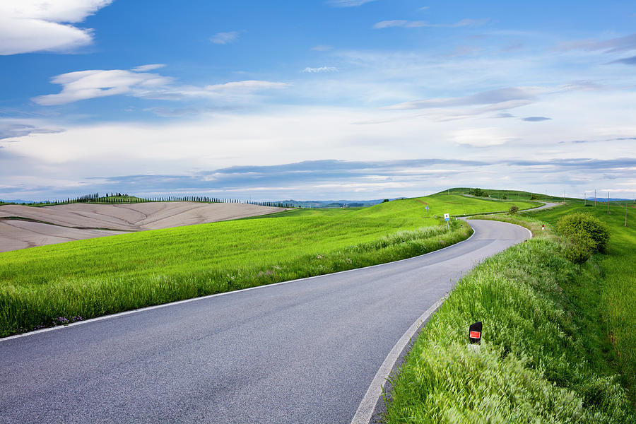 Country Road Photograph by Jorg Greuel