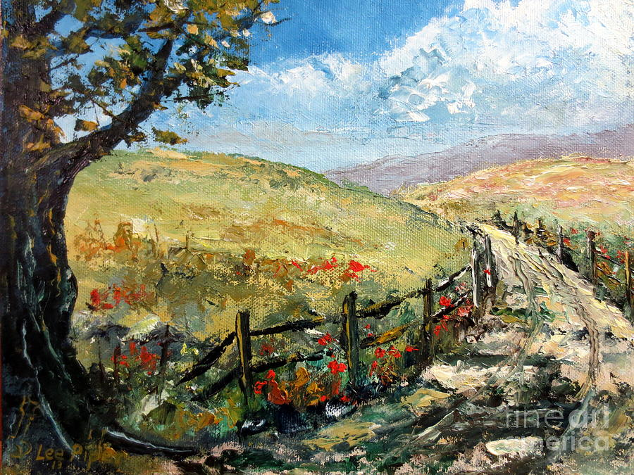 Rural Painting - Country Road by Lee Piper