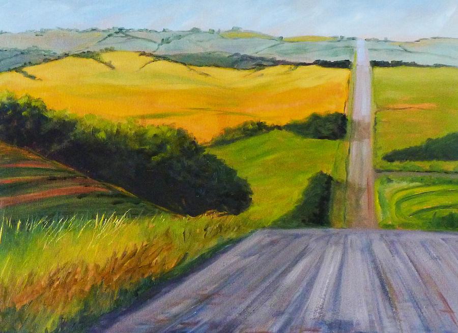 Oregon Painting - Country Road by Nancy Merkle