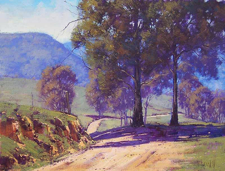 Rural Painting - Country Road Oberon by Graham Gercken
