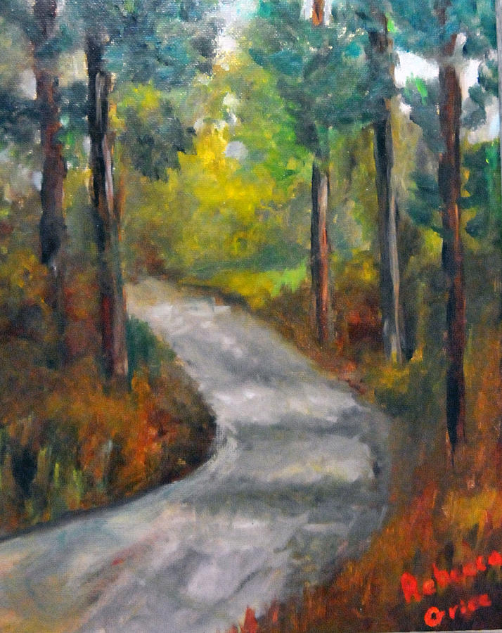 Landscape Painting - Country Road by Rebecca Grice