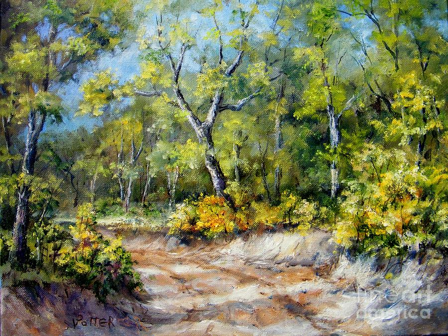 Landscape Painting - Country Road by Virginia Potter