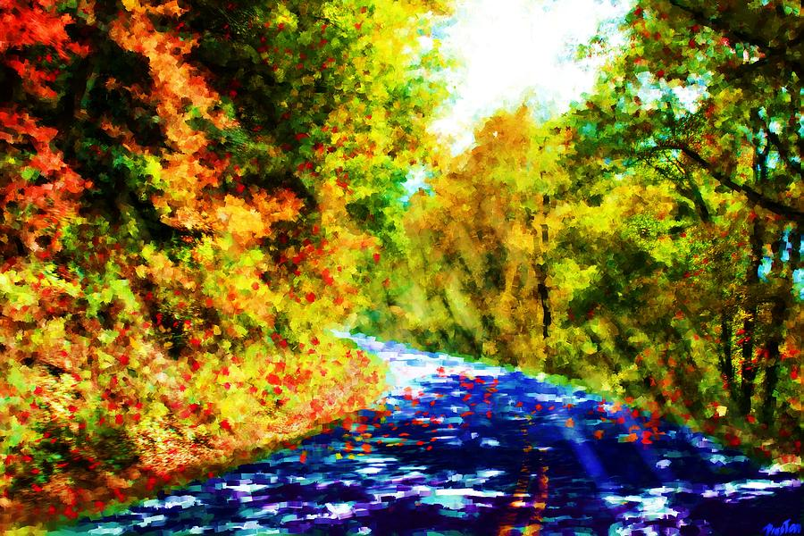Impressionistic Landscape Painting - Country Roads by Preston Sandlin