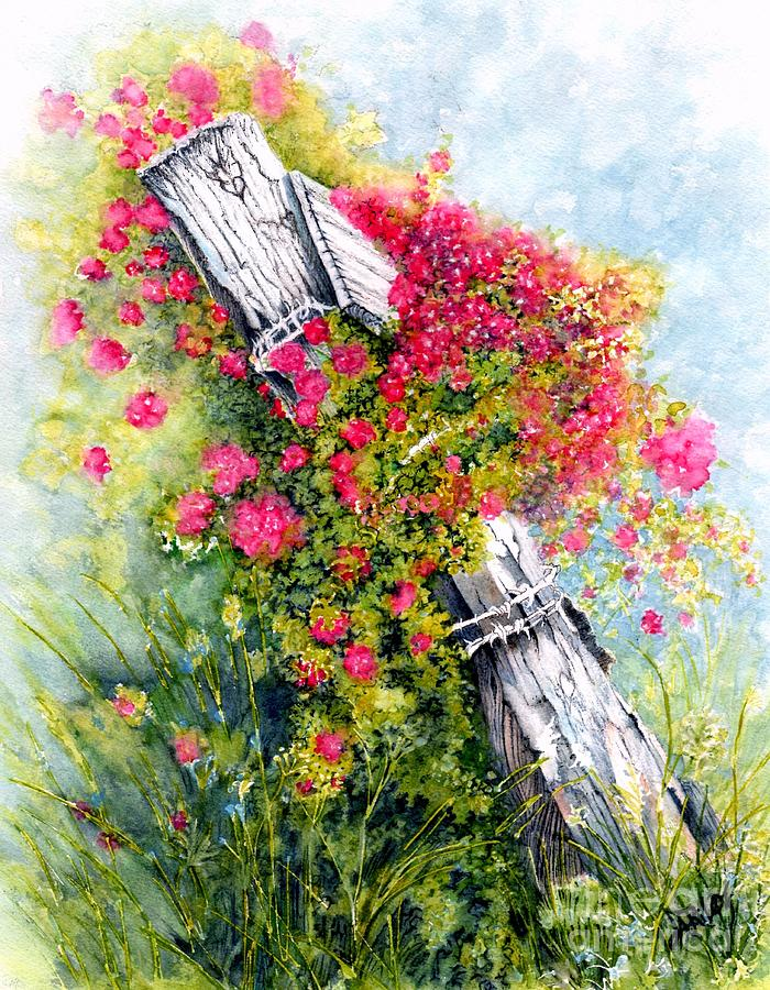 Country Rose Painting By Janine Riley