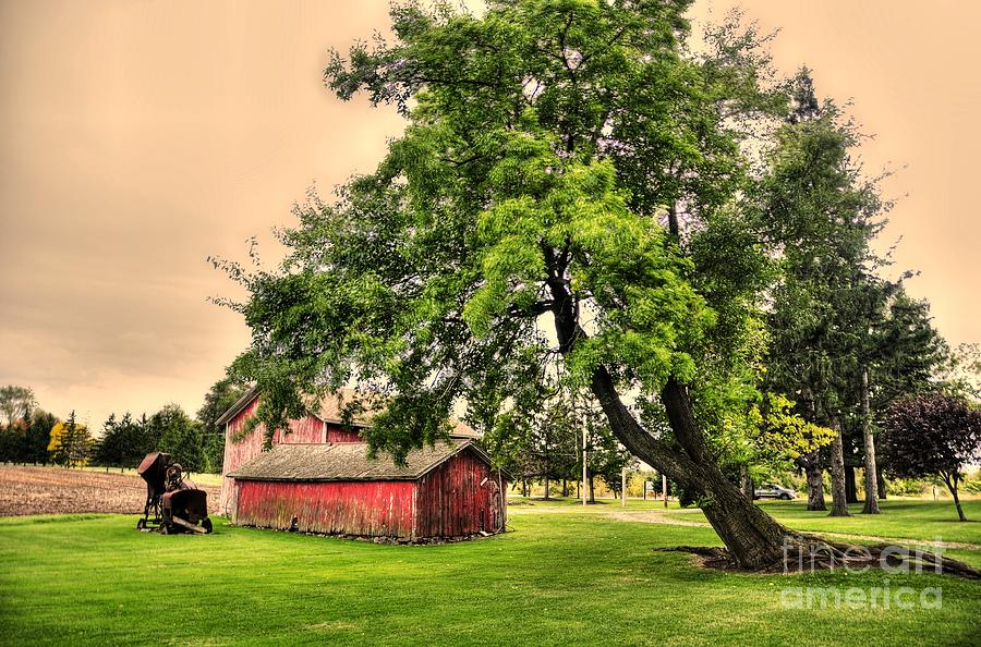 Red Photograph - Country Scene by Kathleen Struckle