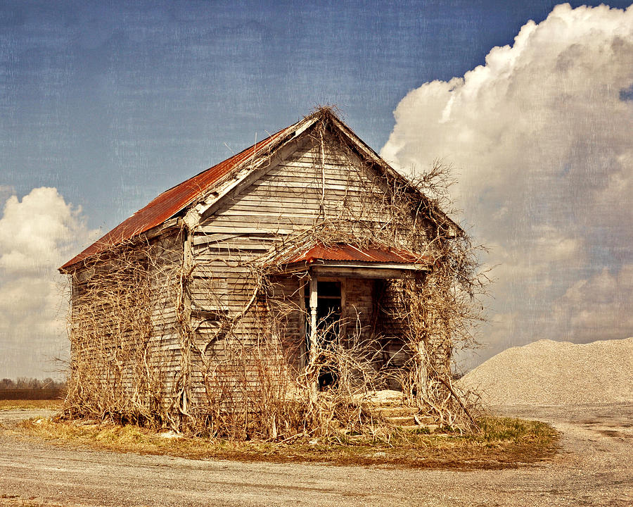 Rustic Photograph - Country Schoolhouse  by Marty Koch