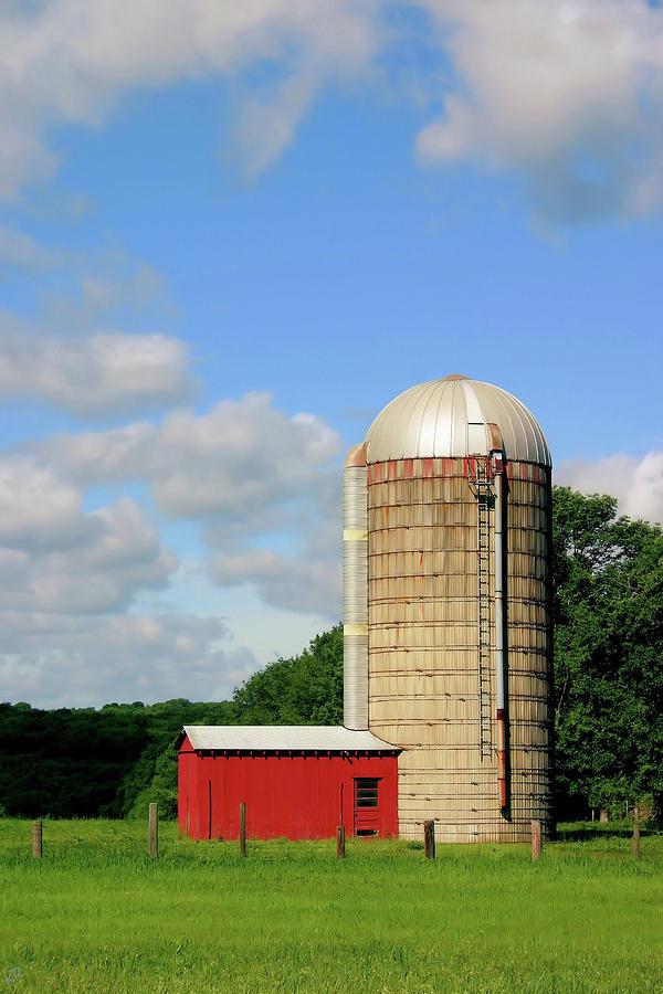 Farm Photograph - Country Silo by Karol Livote