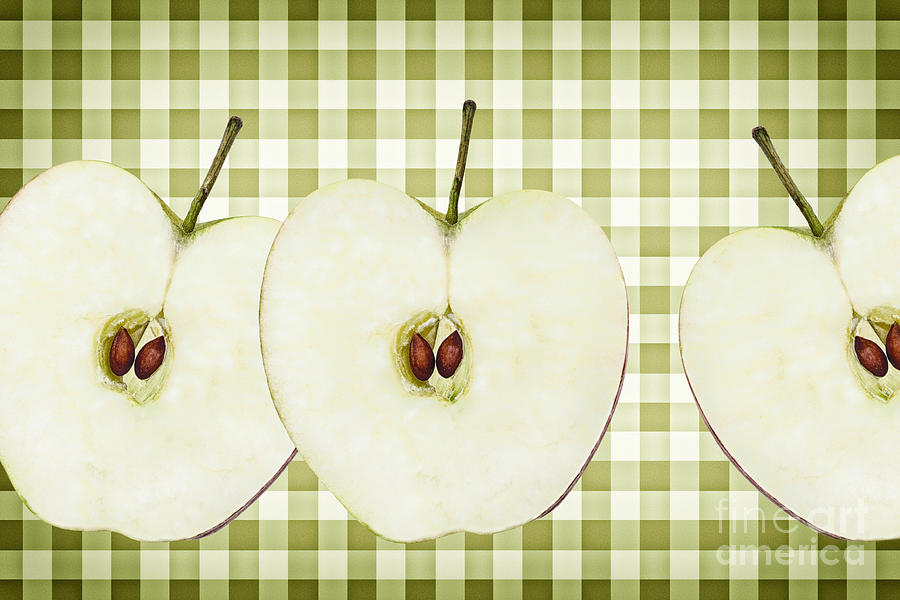 Apple Photograph - Country Style Apple Slices by Natalie Kinnear