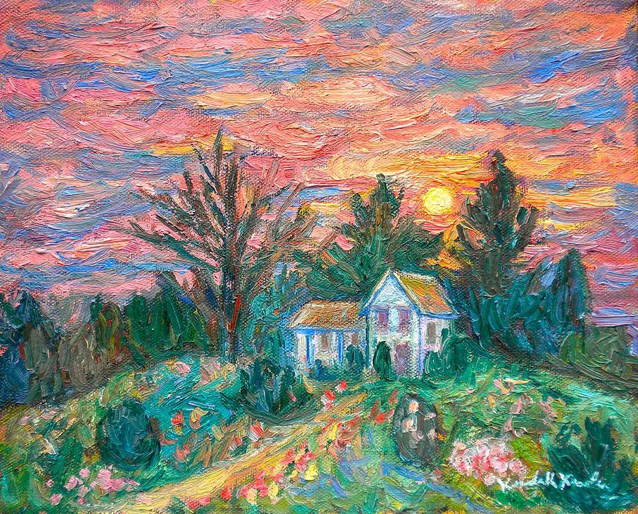 Kendall Kessler Painting - Country Sunset by Kendall Kessler