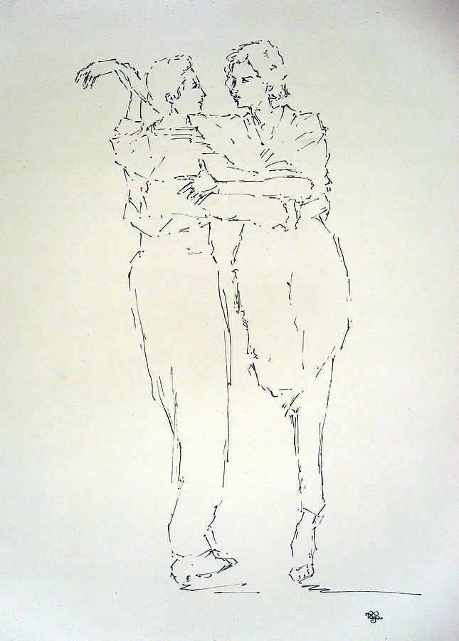 Human Drawing - Couple 47 A by Mohd Raza-ul Karim