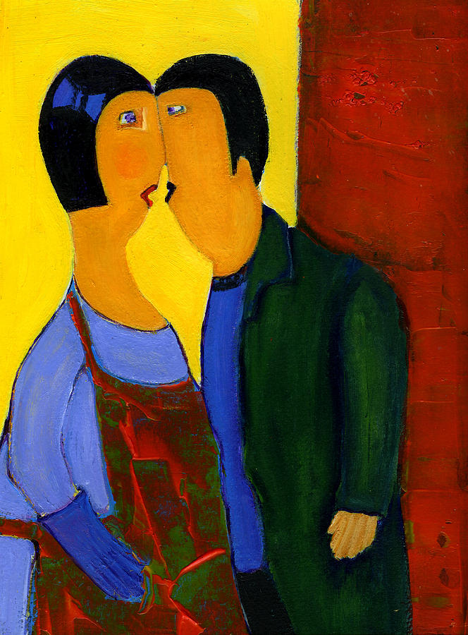 Couple Painting - Couple by Agnes Trachet