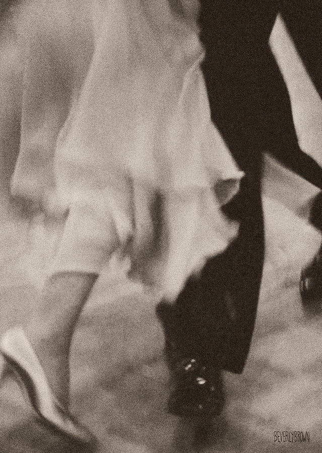Sepia Photograph - Couple Ballroom Dancing Legs by Beverly Brown