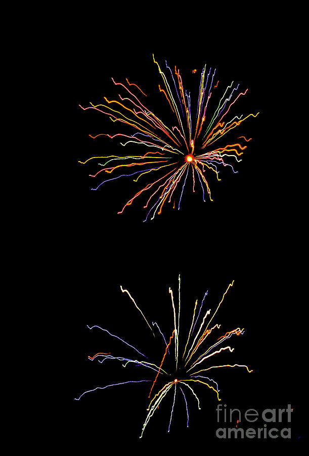 Fireworks Photograph - Couple by Christopher Biggers