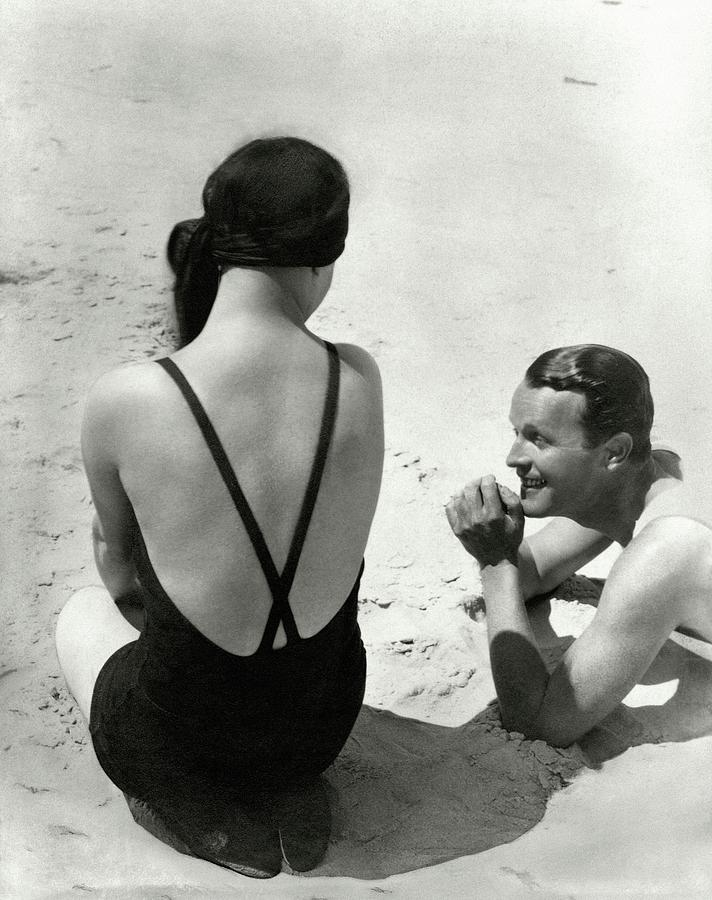Couple On A Beach Photograph by George Hoyningen-Huene