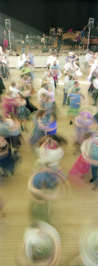 Color Image Photograph - Couple Performing Contra Dance by Panoramic Images