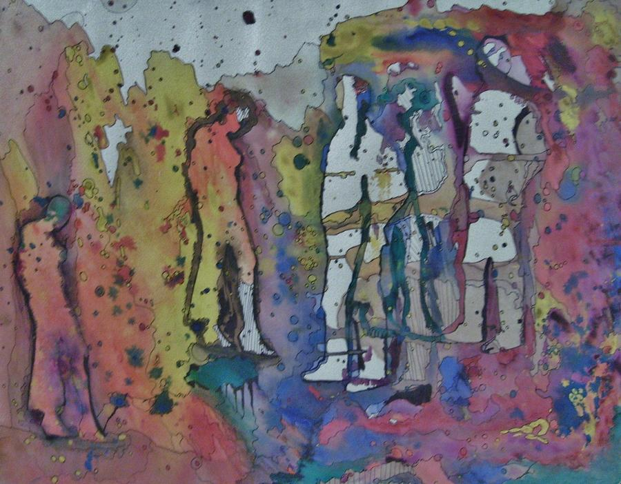 Abstract Painting - Couples by Mark Greenhalgh