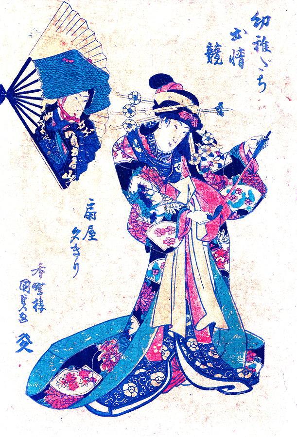 Courtesan Ogiya Yugiri 1830 Photograph - Courtesan Ogiya Yugiri 1830 by Padre Art