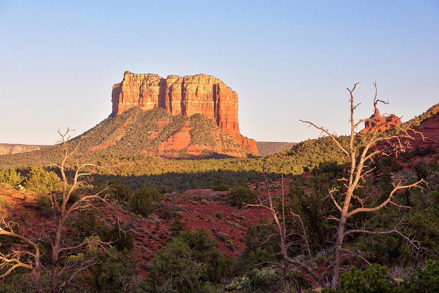 Courthouse Butte At Sunset, Sedona Photograph by Picturelake