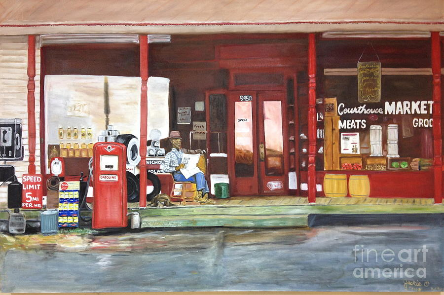 Courthouse Market Painting by JackieO Kelley