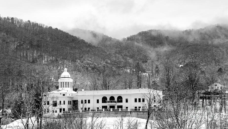 Snow Photograph - Courthouse Snow 2014 by Matthew Turlington