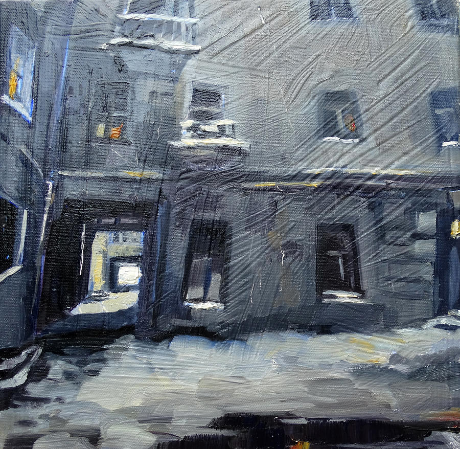 Greeting Cards Painting - Courtyard by NatikArt Creations